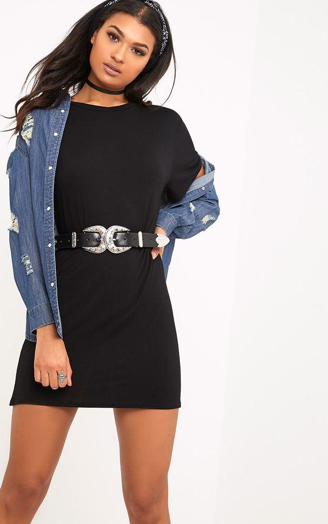 T shirt dress oversized slogan dresses for Logo t shirt dress