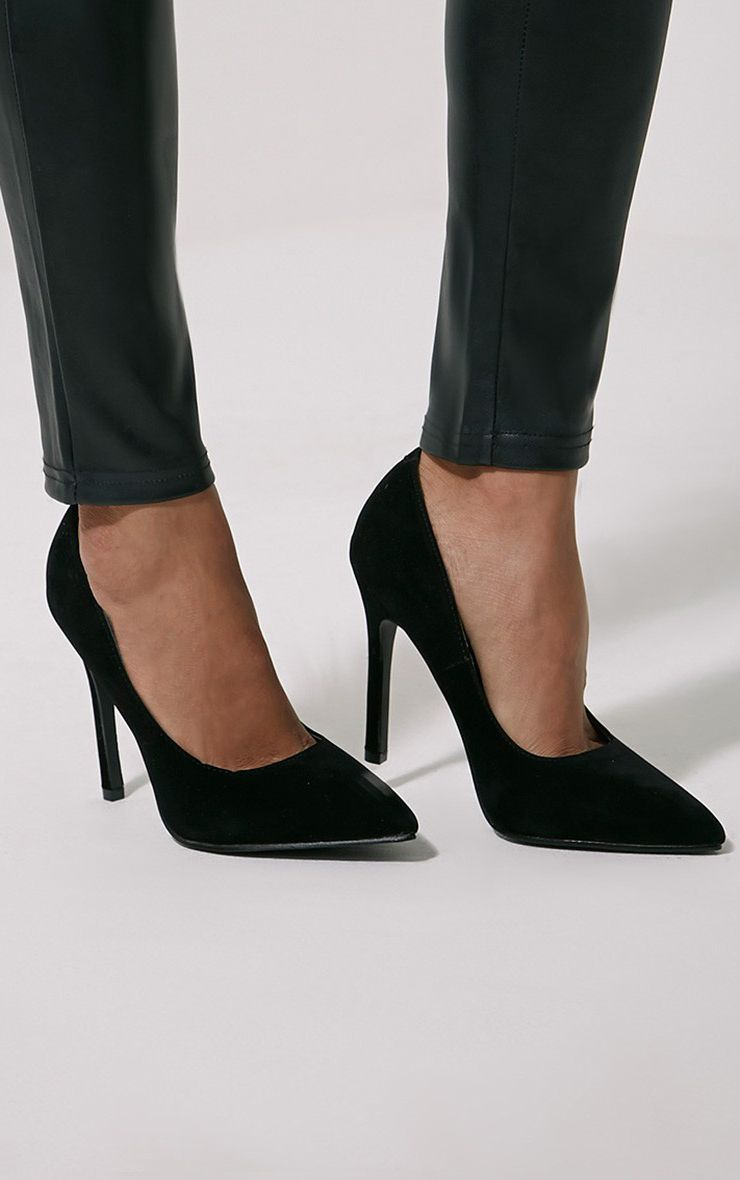 Magna Black Suede Court Shoes 1