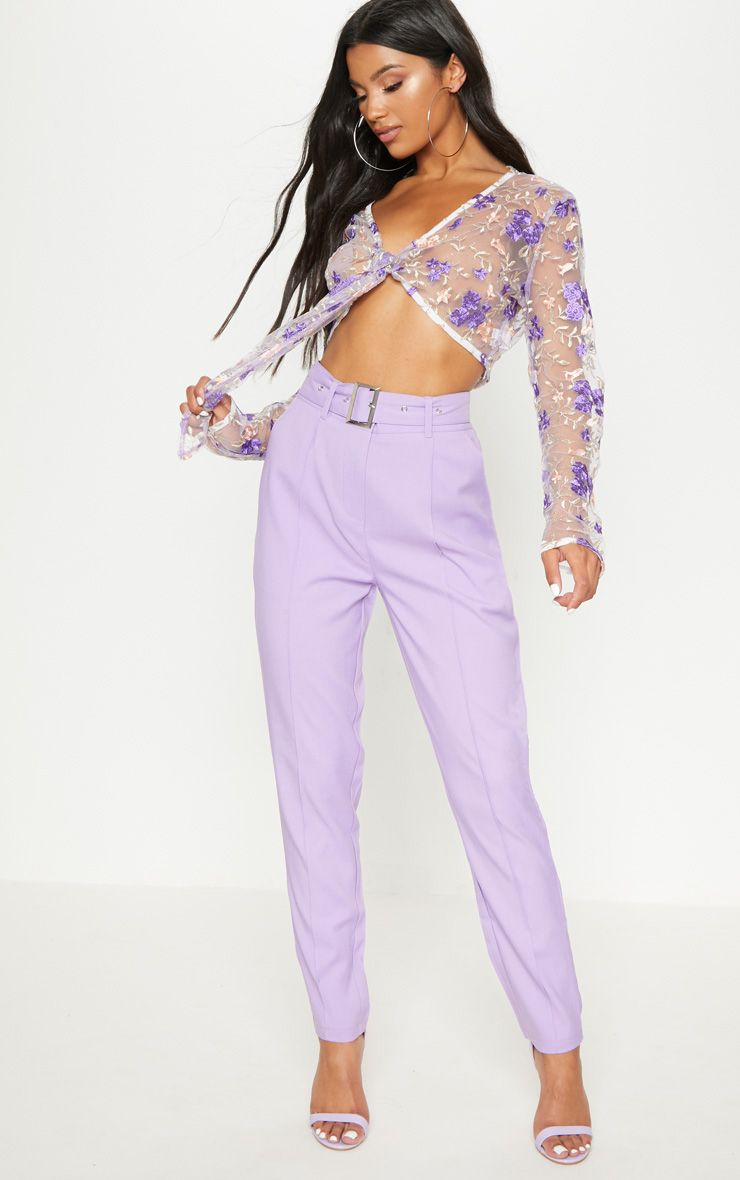 Sale Finishline For Sale For Sale PRETTYLITTLETHING Dusty Belted Tailored Trousers ndMaIzB