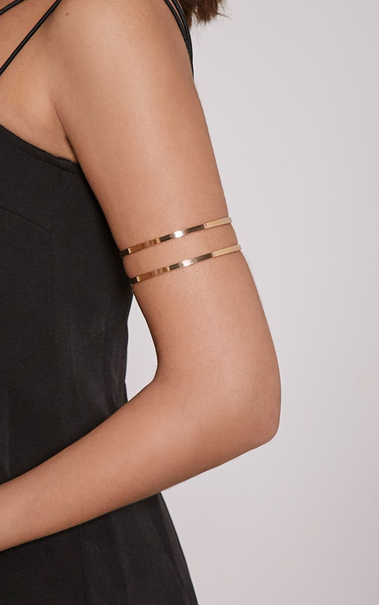 Danah Gold Cut Out Upper Arm Cuff