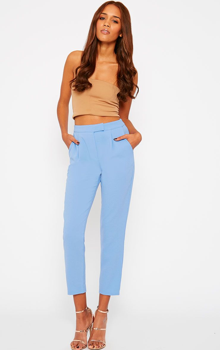 Iris Blue Cigarette Trousers 1
