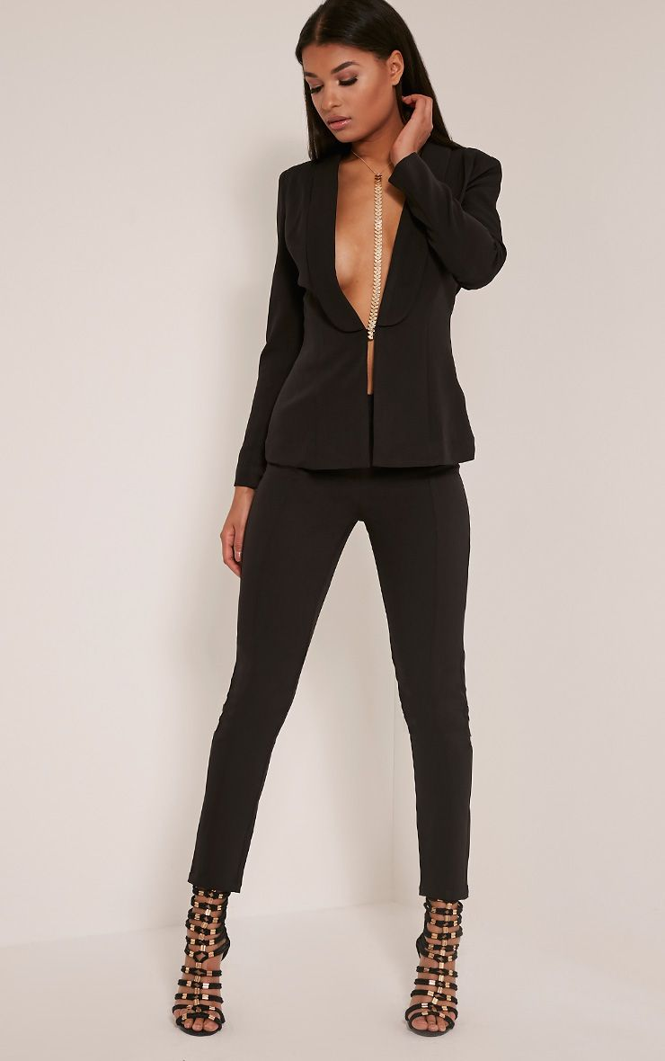 Avani Black Suit Trousers