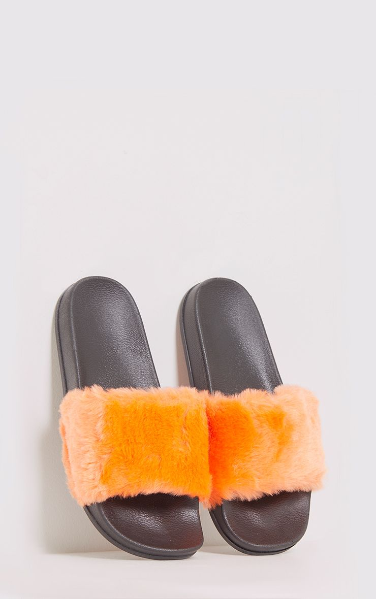 Emeline Orange Fluffy Sliders