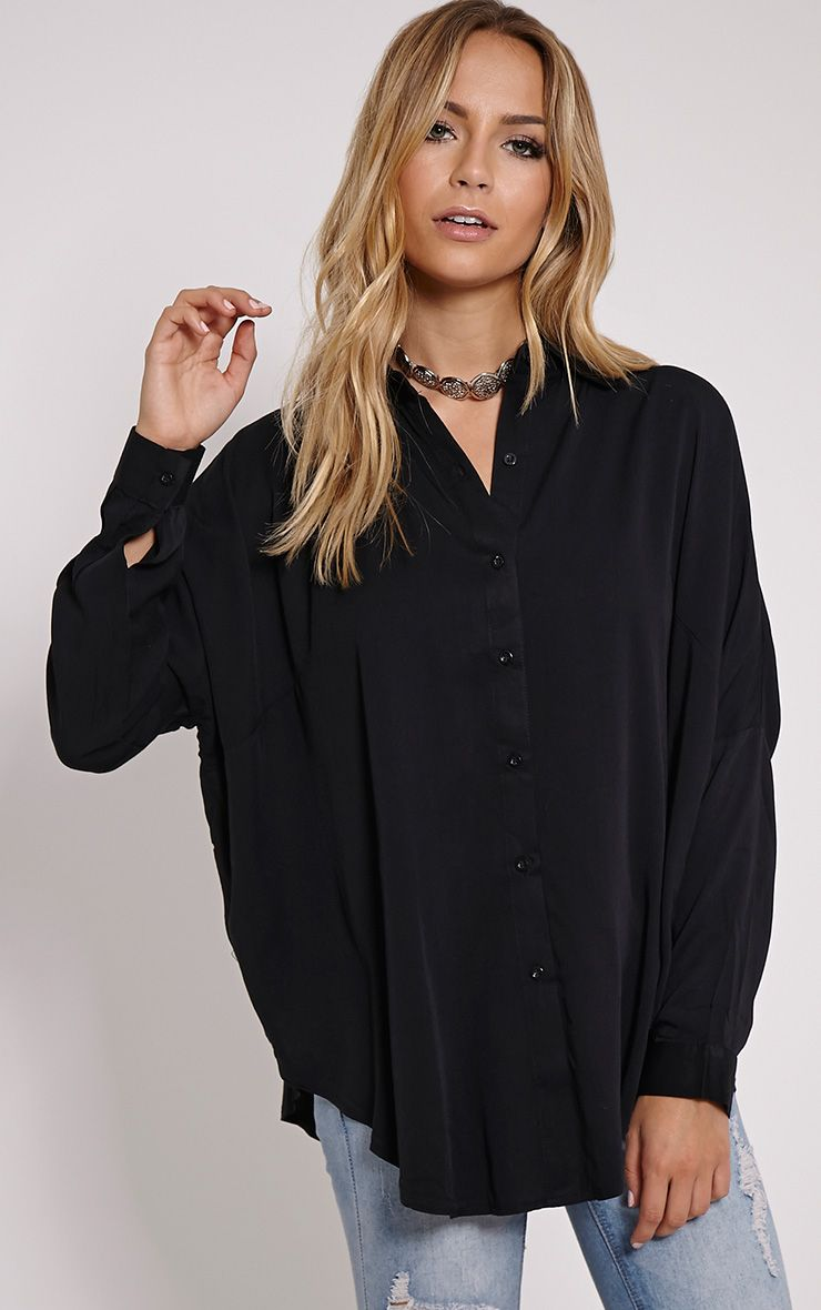 Pepper Black Oversized Shirt 1