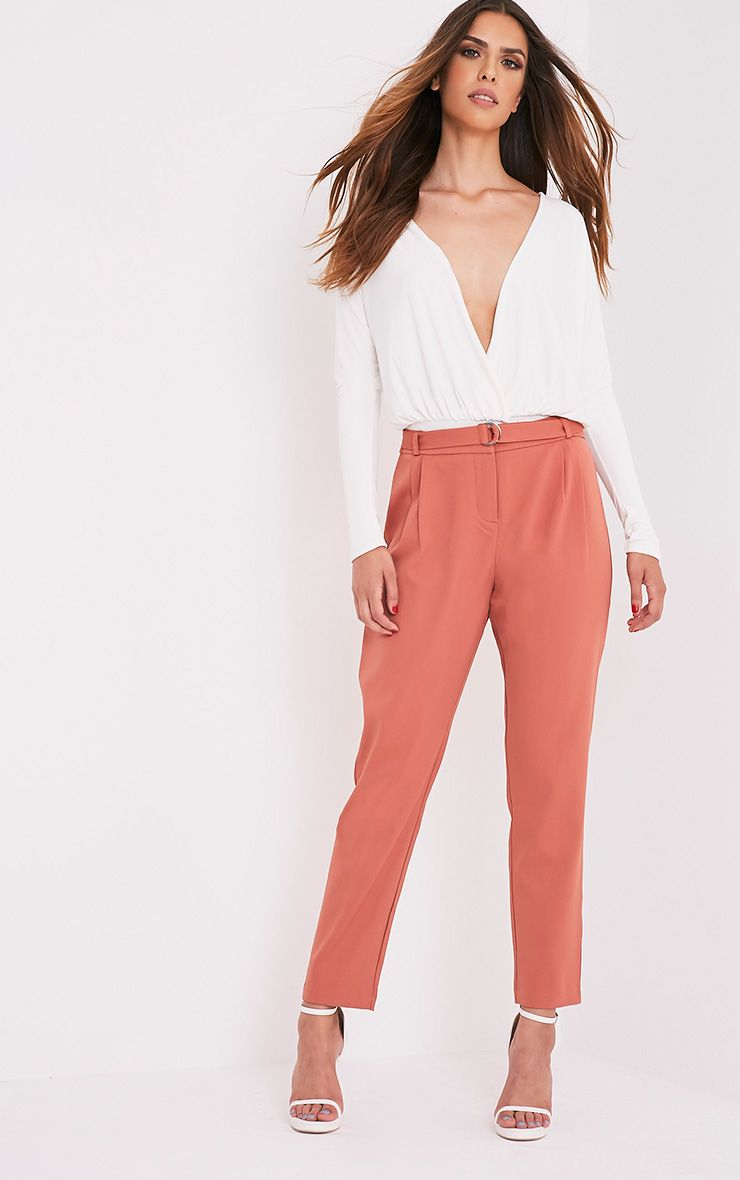 Teena Tobacco D-Ring Belted Trousers