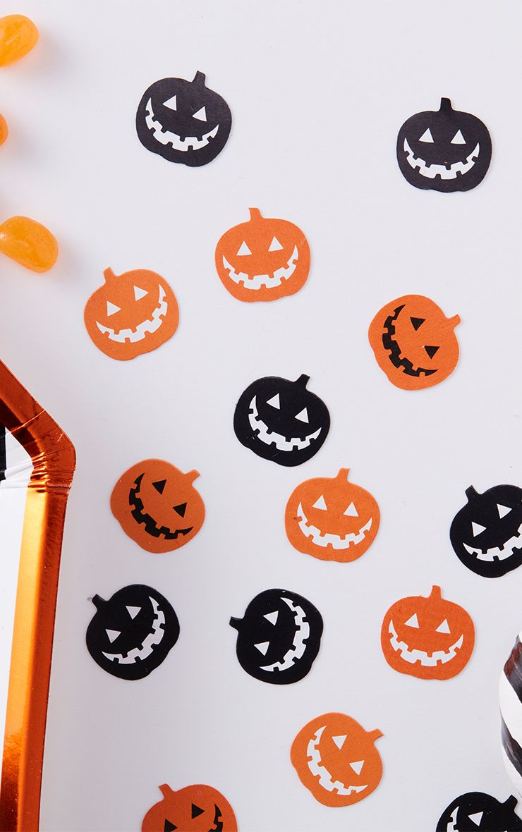 Halloween Pumpkin Table Confetti