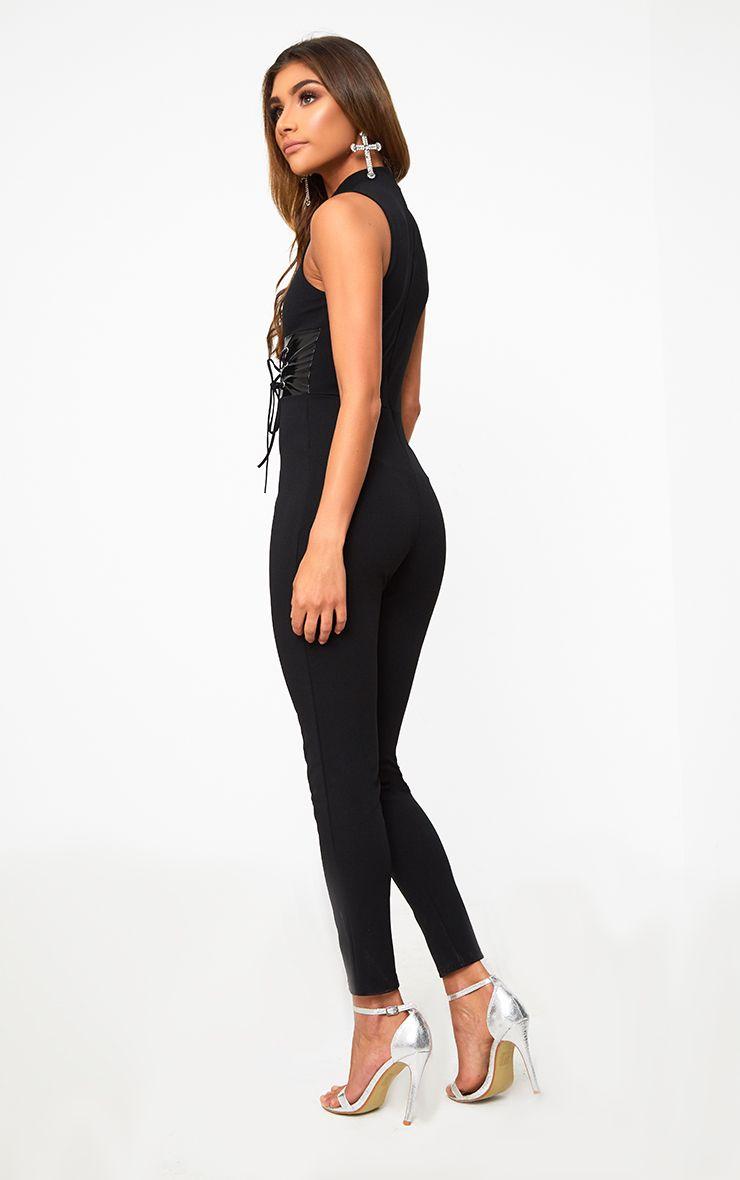 Black Corset Detail Leggings Pretty Little Thing CAvLnOdnf
