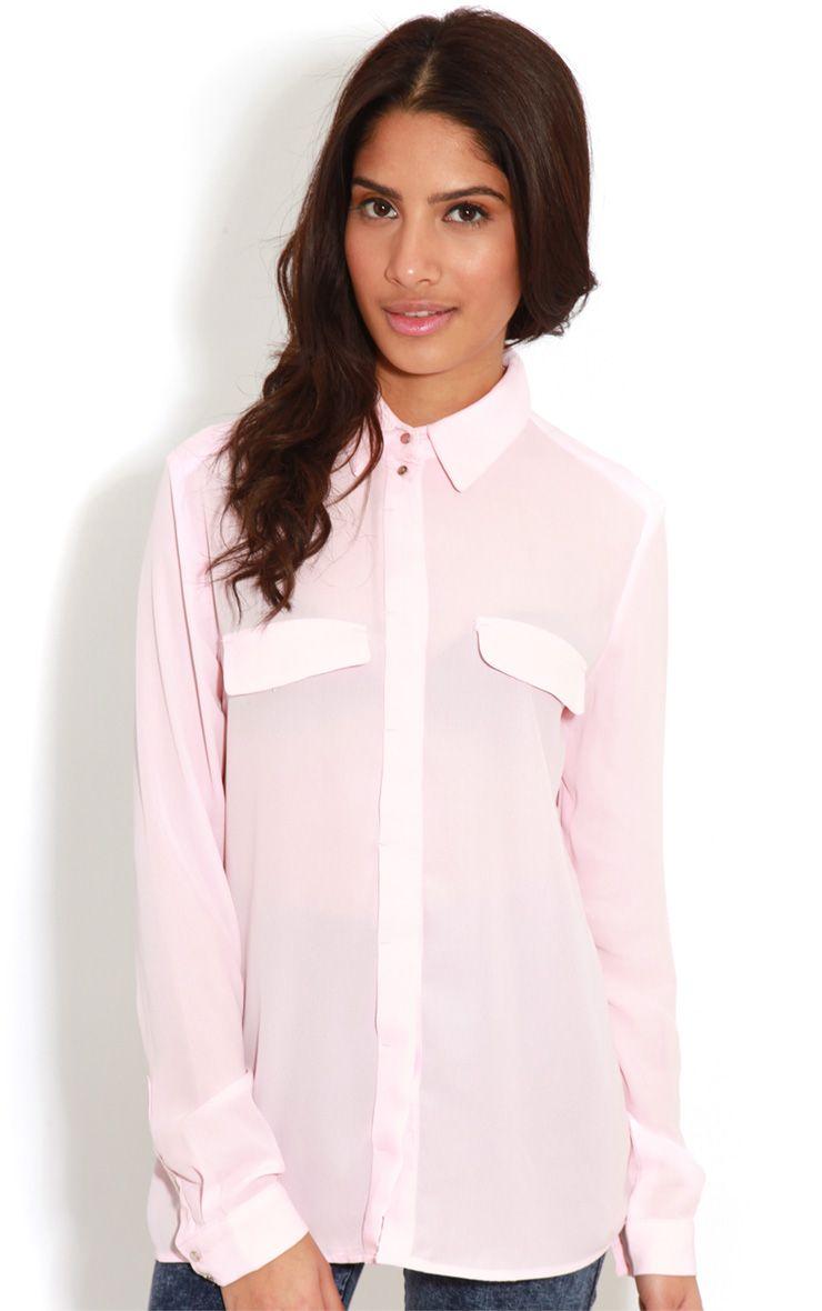 Eboni Pink Chiffon Shirt 1