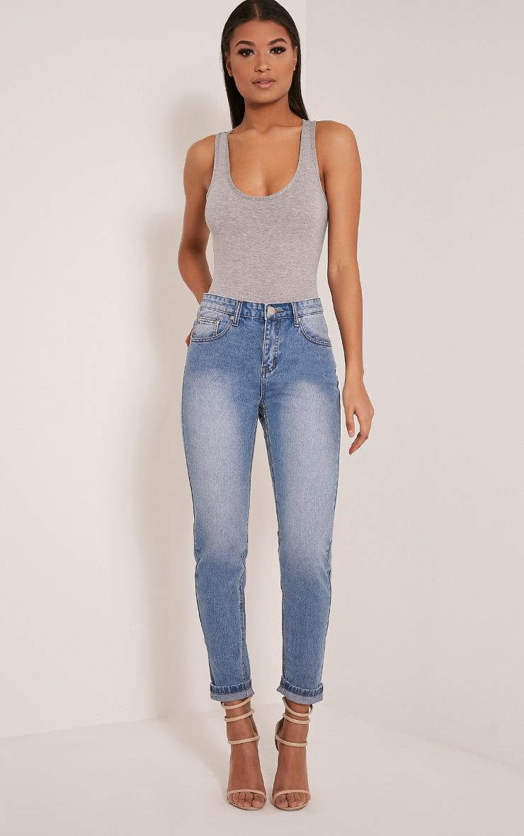 Kourtney Light Wash Boyfriend Jeans