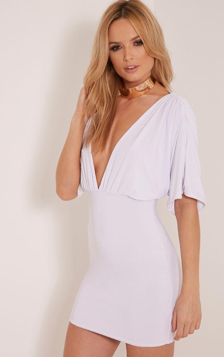 Eda White Kimono Sleeve Bodycon Dress 1