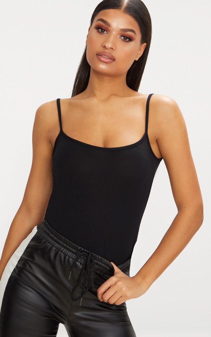 Basic Black Jersey Cami Vest
