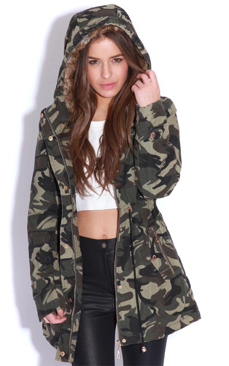 Renata Camo Parka Coat 1