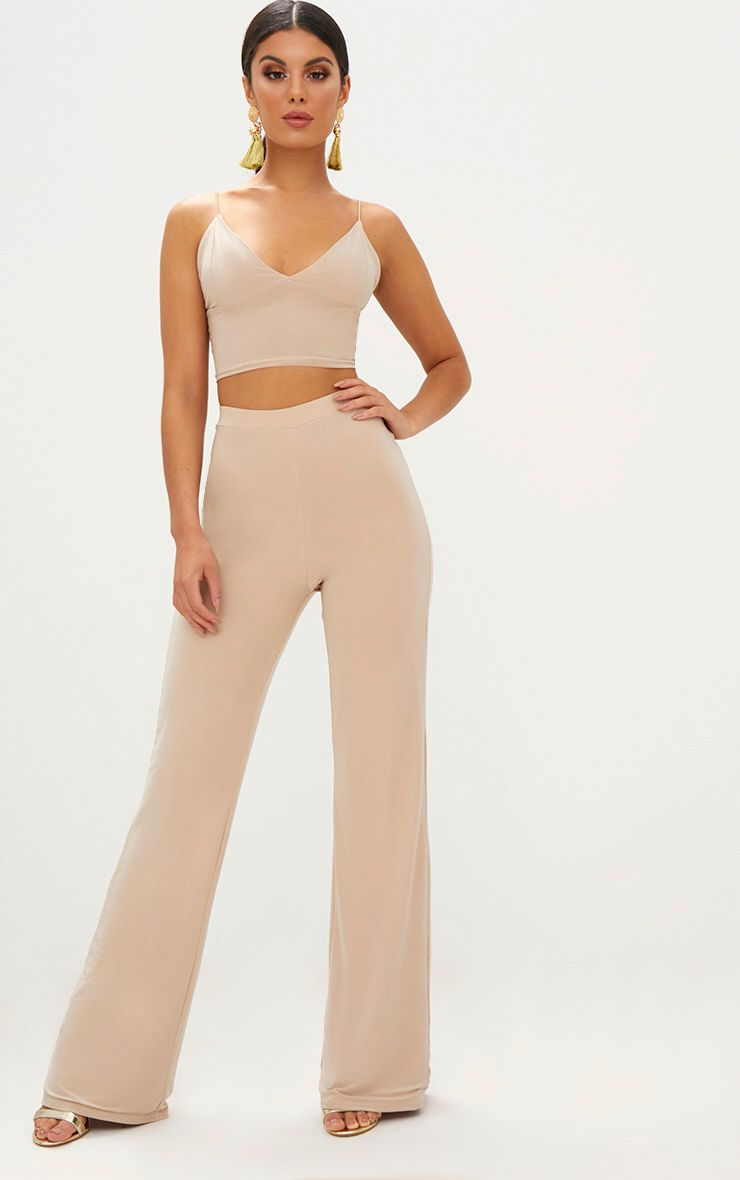 Champagne Slinky Palazzo Trousers