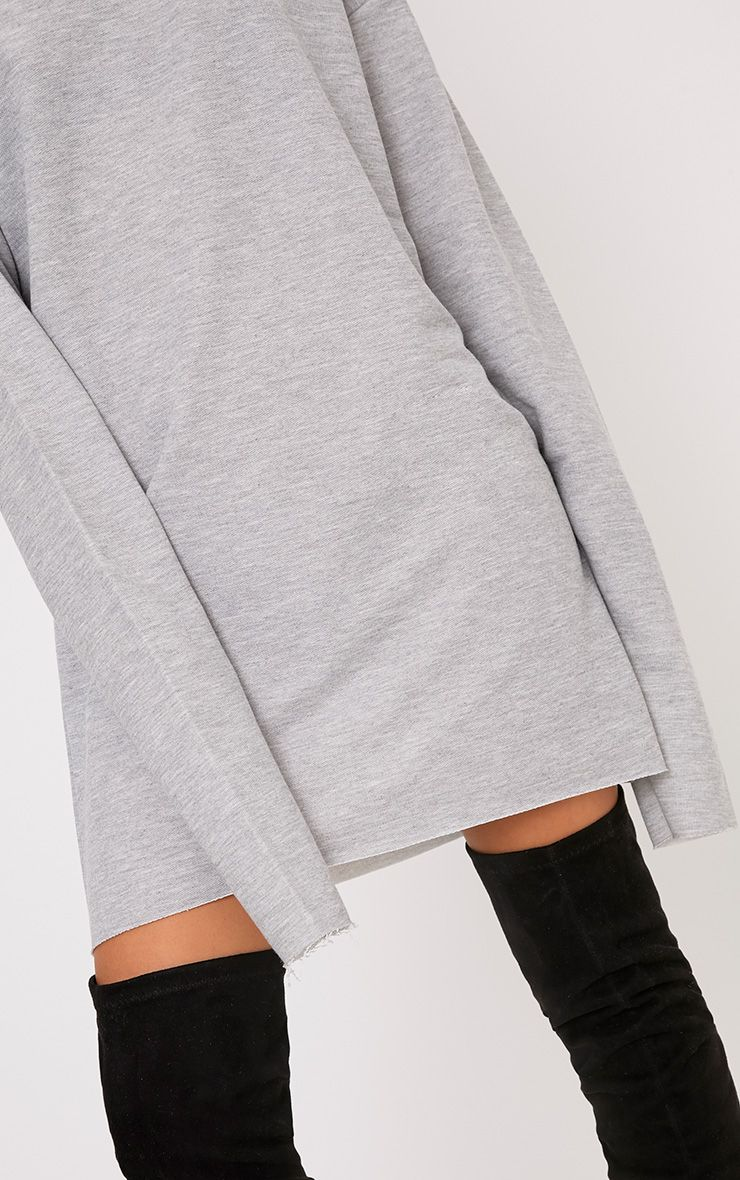 Breanna Grey Extreme Long Sleeved Sweater Dress Shop