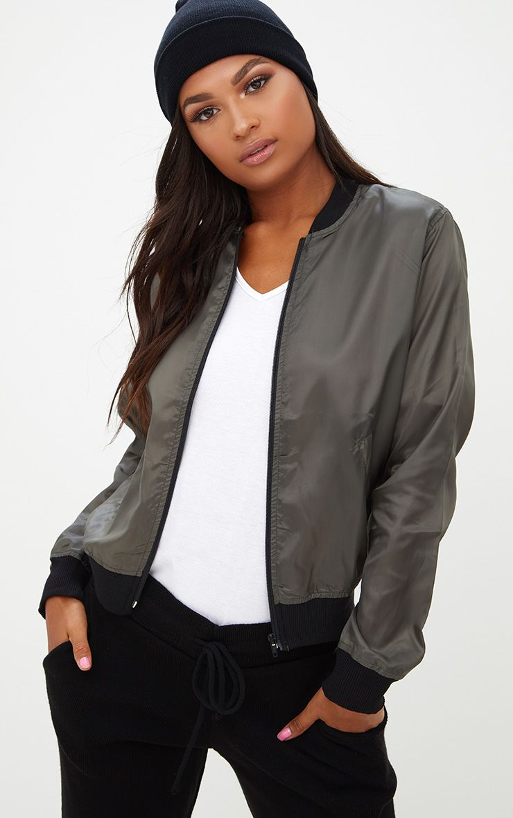 Ainnie Khaki Lightweight Bomber Jacket