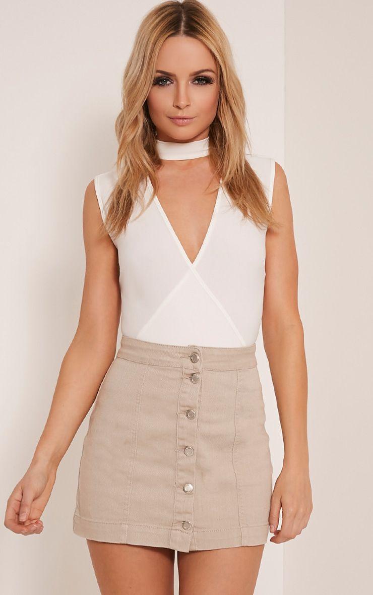 Cammie Stone Denim Mini Skirt