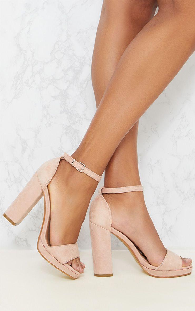 Blush Faux Suede Platform Sandal