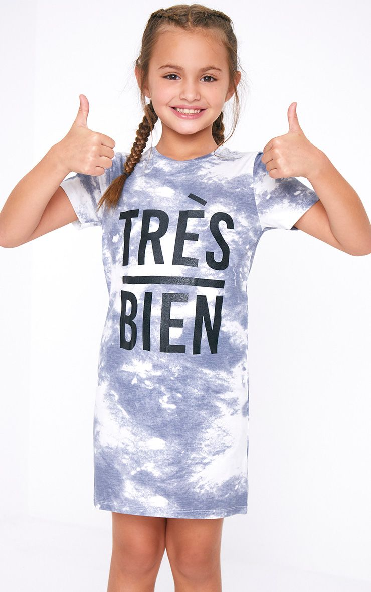 Tres Bien Blue Tie Dye T Shirt Dress