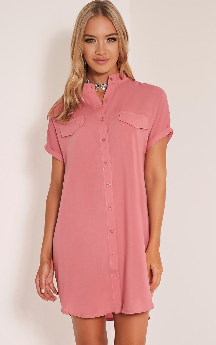 Valeria Rose Cap Sleeve Shirt Dress 1