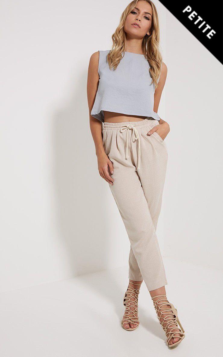 Petite Diya Stone Cropped Trousers 1