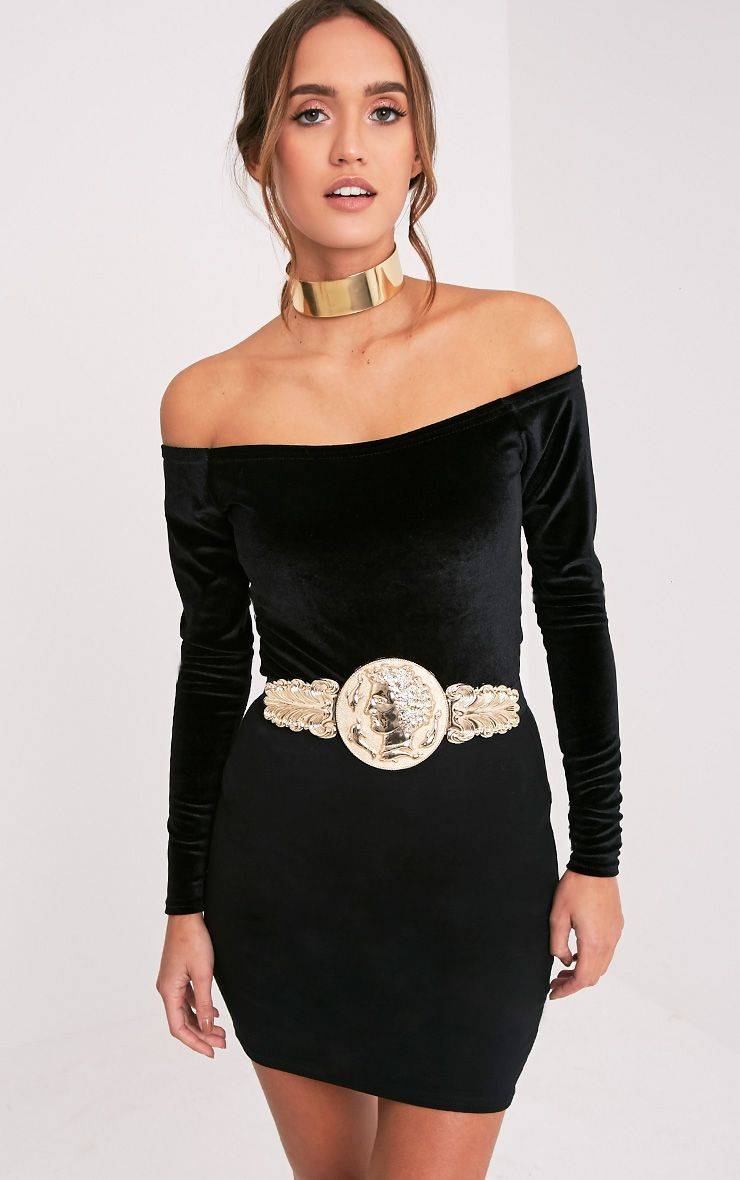 Alexius Gold Oversized Coin Detail Belt