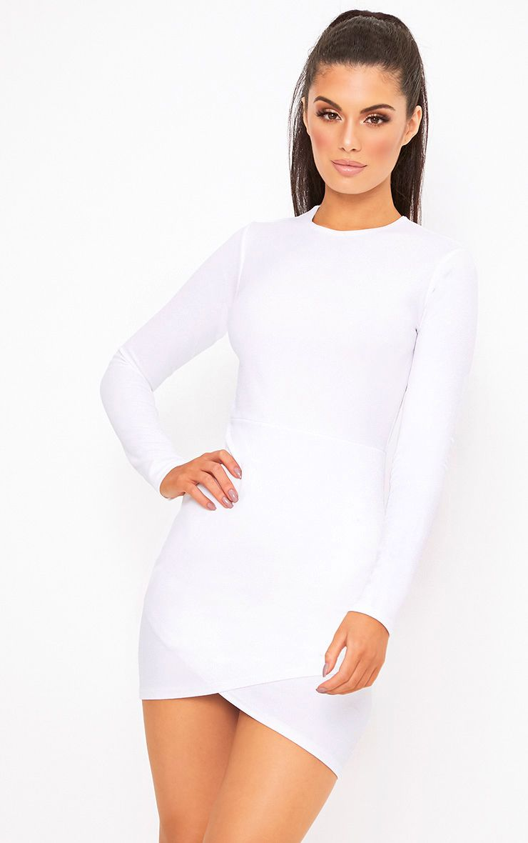Idda Long Sleeve Wrap Skirt Bodycon Dress