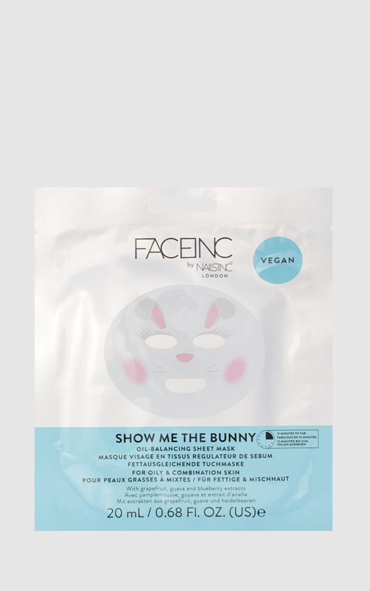 FACEINC By NAILSINC Show Me The Bunny Face Mask
