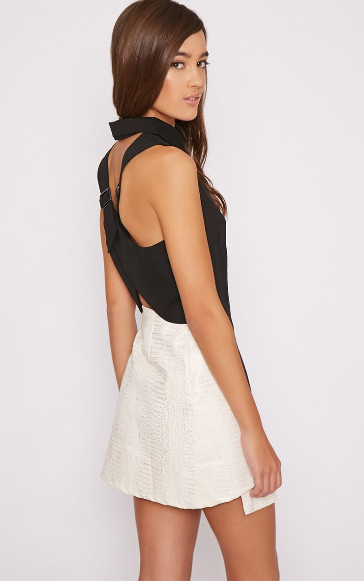 Amya Black Cross Back Shirt  1