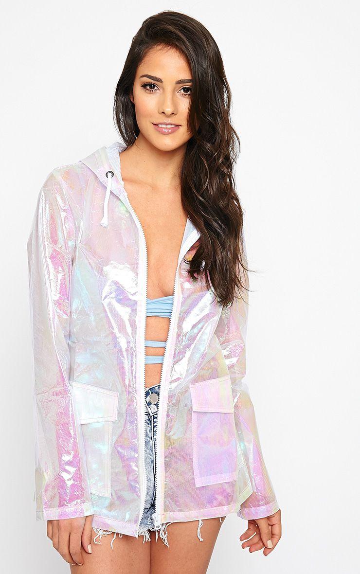 Lupita Pink Iridescent Raincoat 1