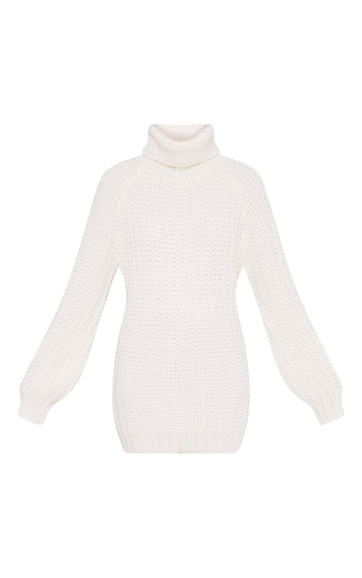Shainel Cream Roll Neck Chunky Knit Jumper 3