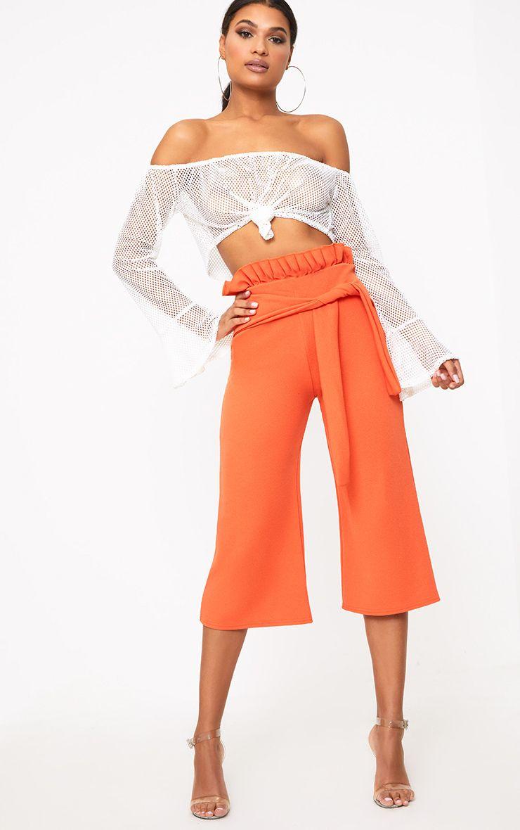 Orange Paperbag Culottes