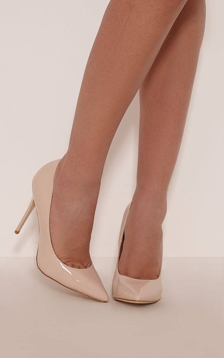 Julieta Nude Patent Stiletto Court Shoe 1