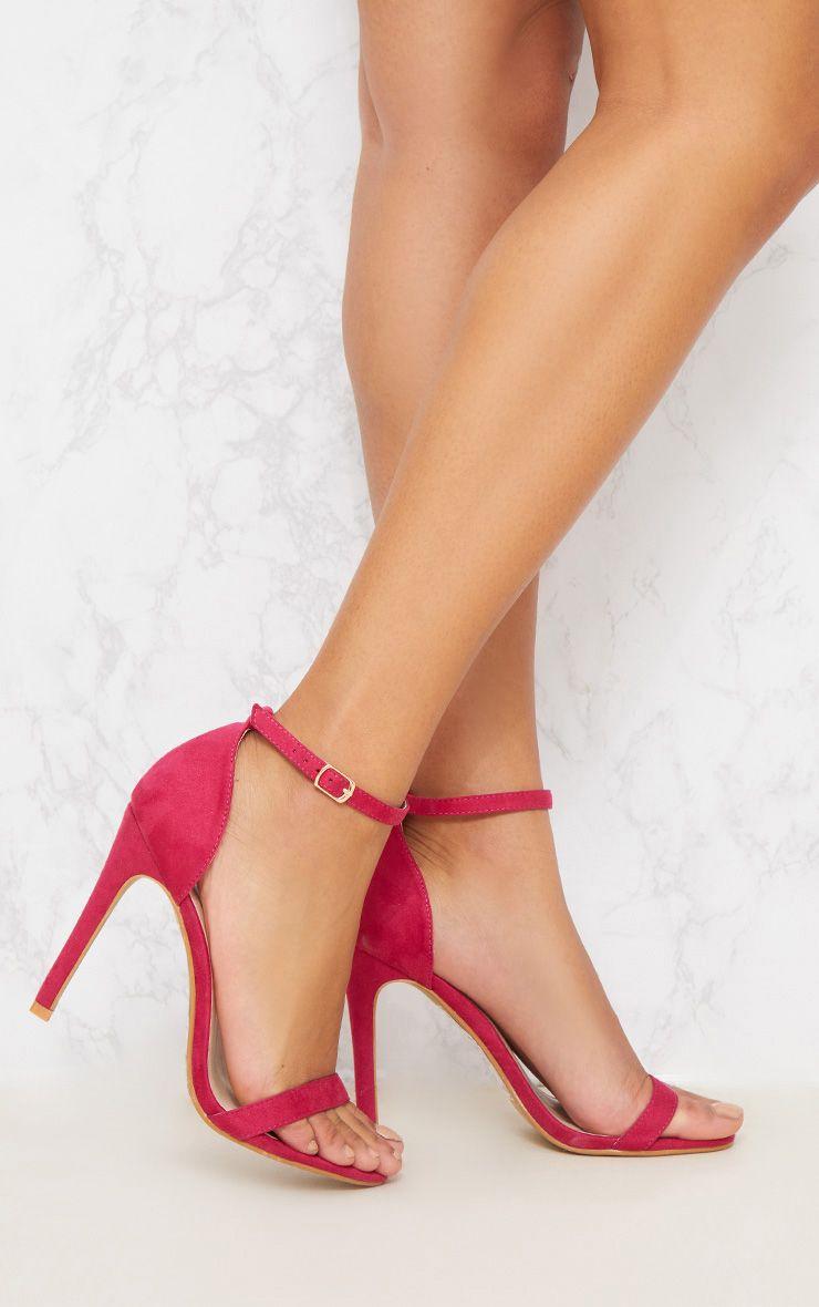 Fuschia Heeled Strappy Sandal