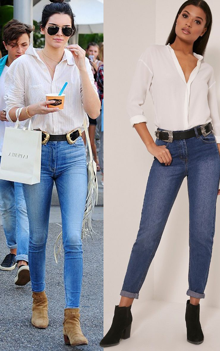 Kendall Dark Wash Mom Jeans