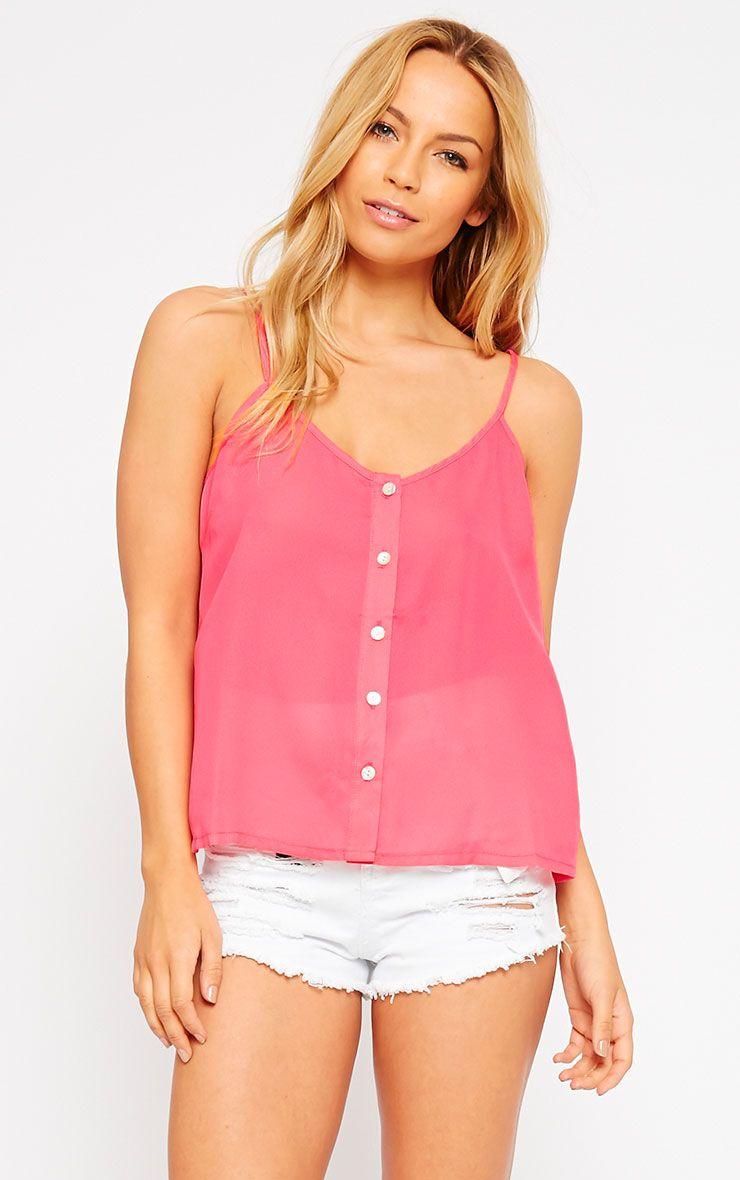 Mara Pink Button Up Cami 1