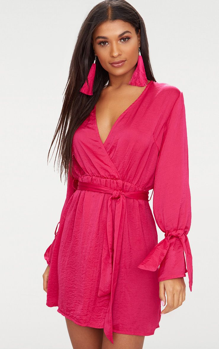 Boho one shoulder scrunch self belted bodycon dress nordstrom with sleeves