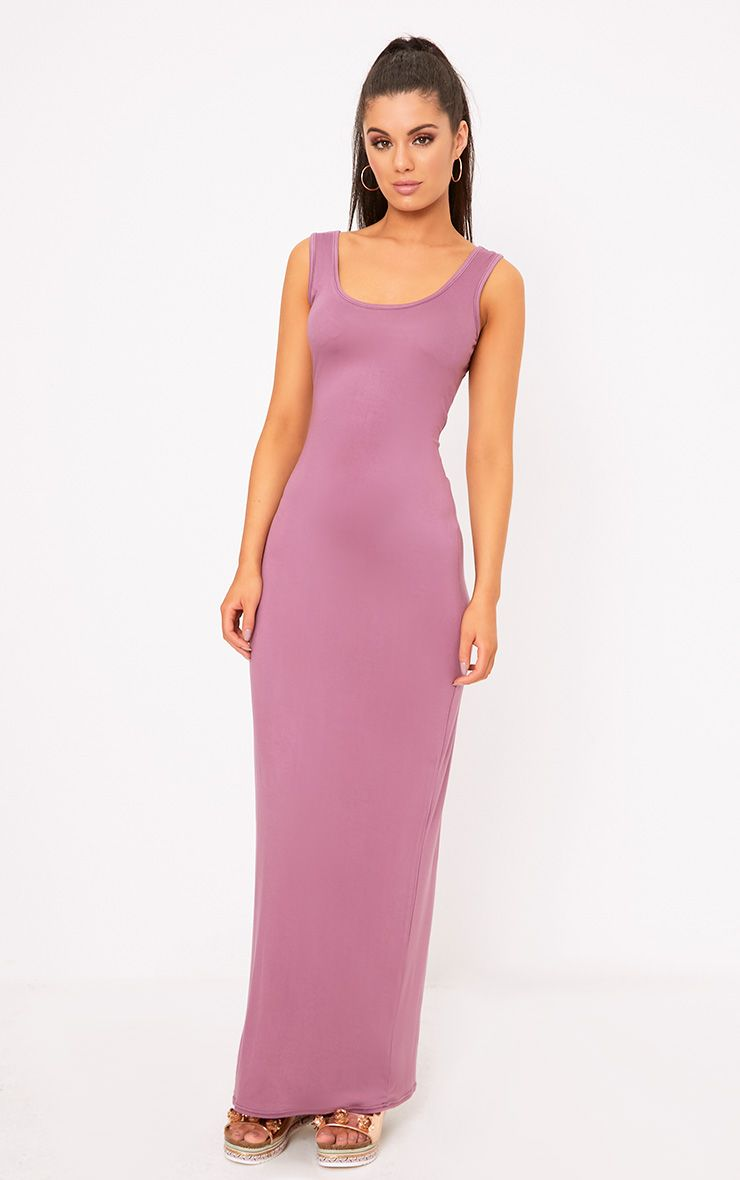 Mauve Racer Maxi Dress
