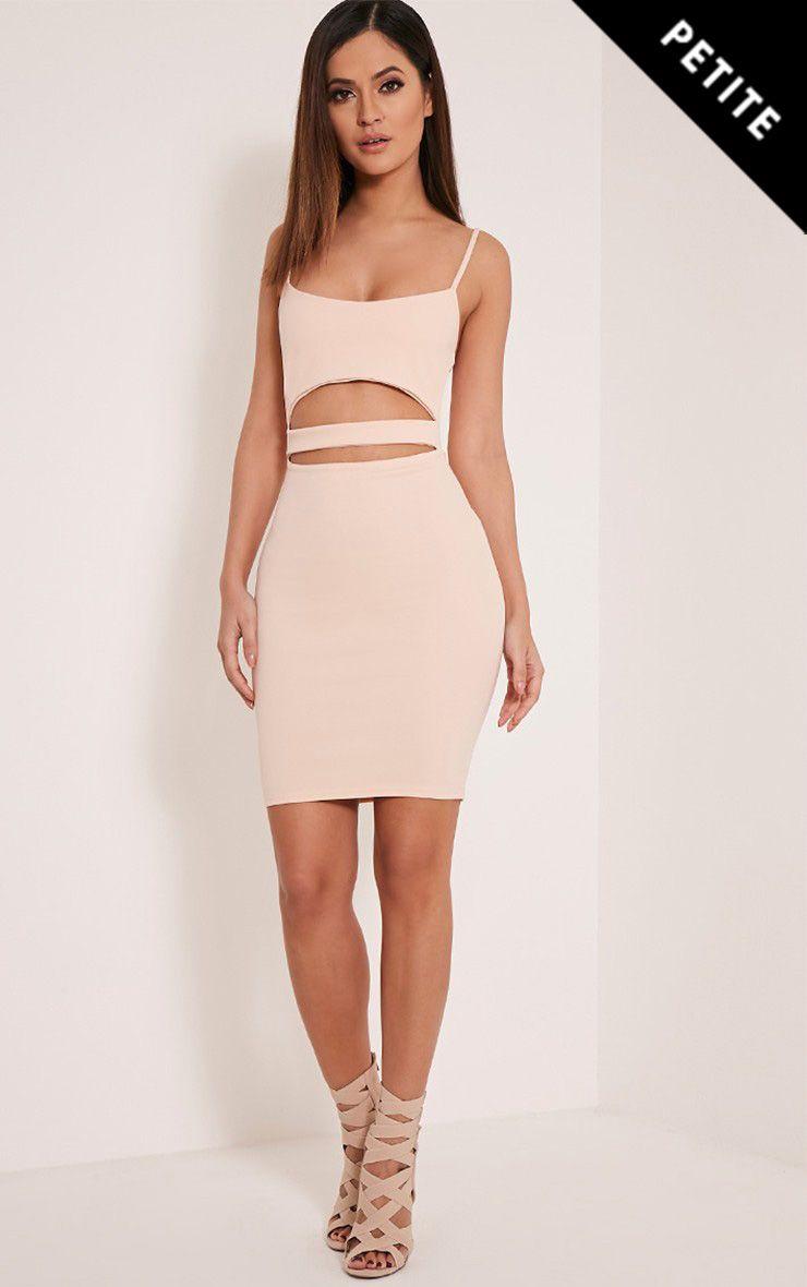 Roxanne Nude Cut Out Mini Dress 1