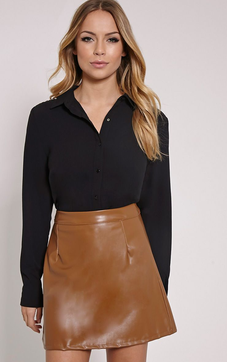 Tyra Black Crepe Shirt 1