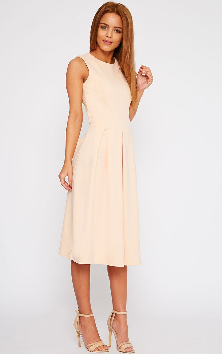 Fiona Blush Long Skater Dress 1