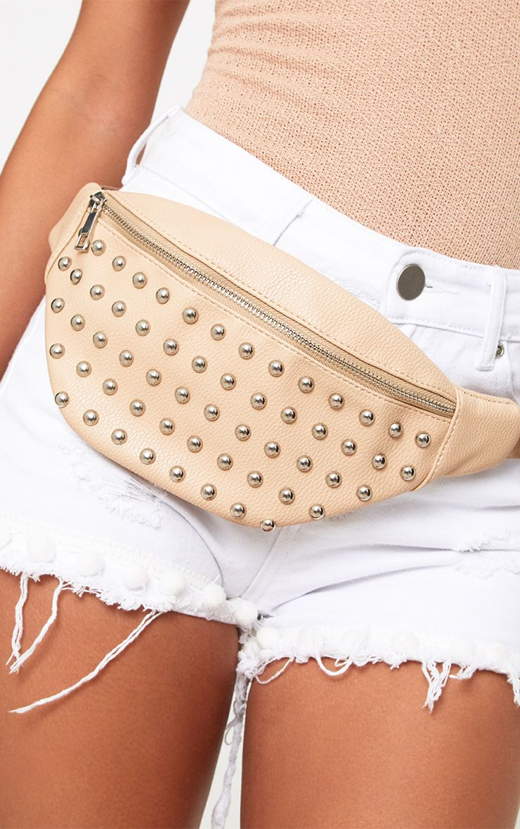 Nude Studded Bum Bag
