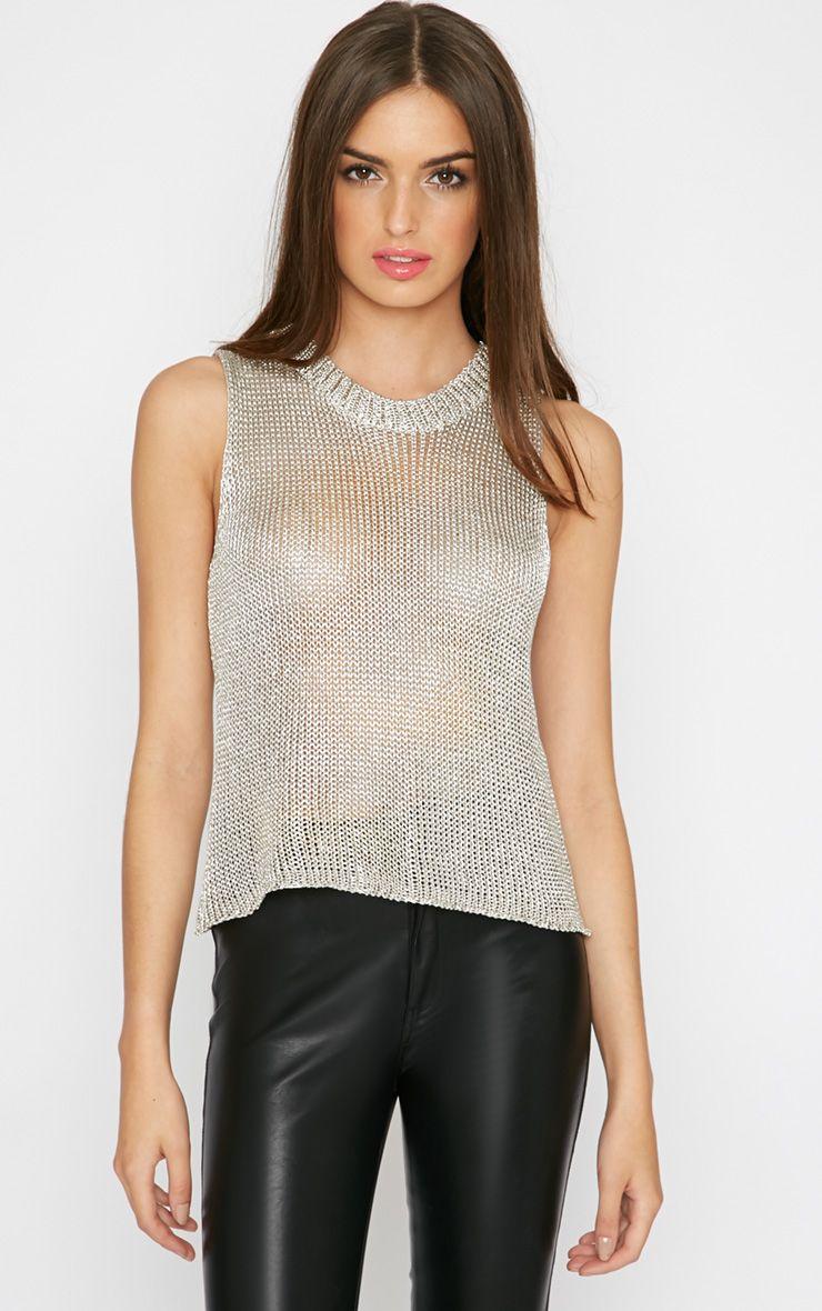 Naja Champagne Knitted Vest 1