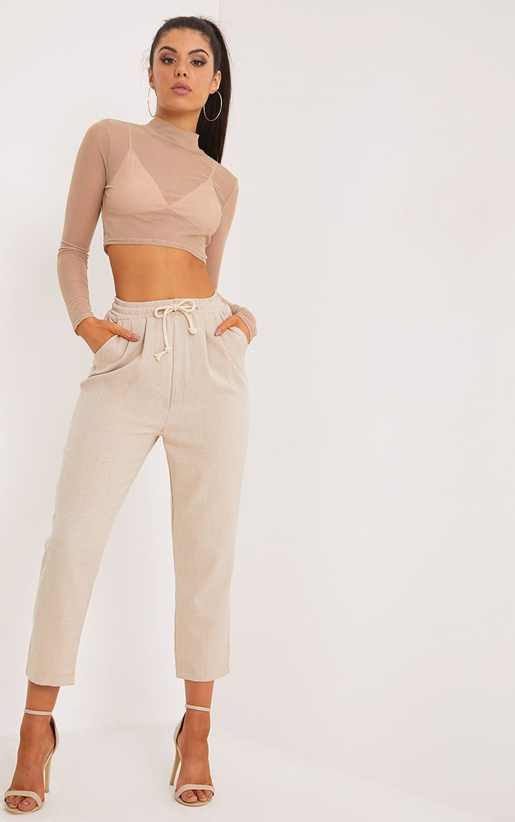 Diya Stone Cropped Trousers