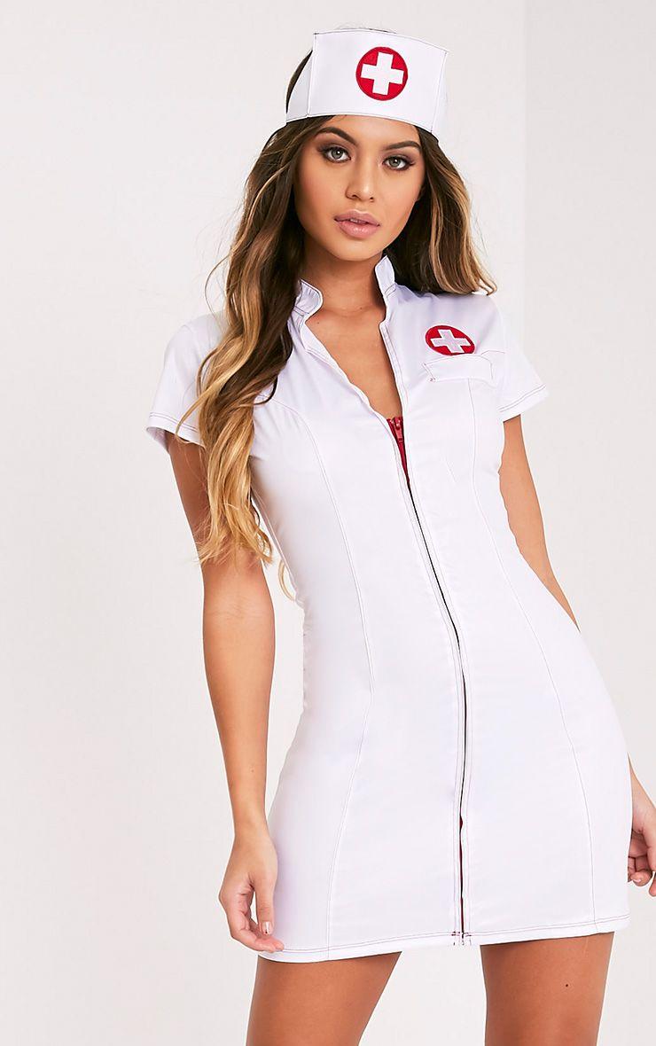 Sexy Nurse White Fancy Dress Costume