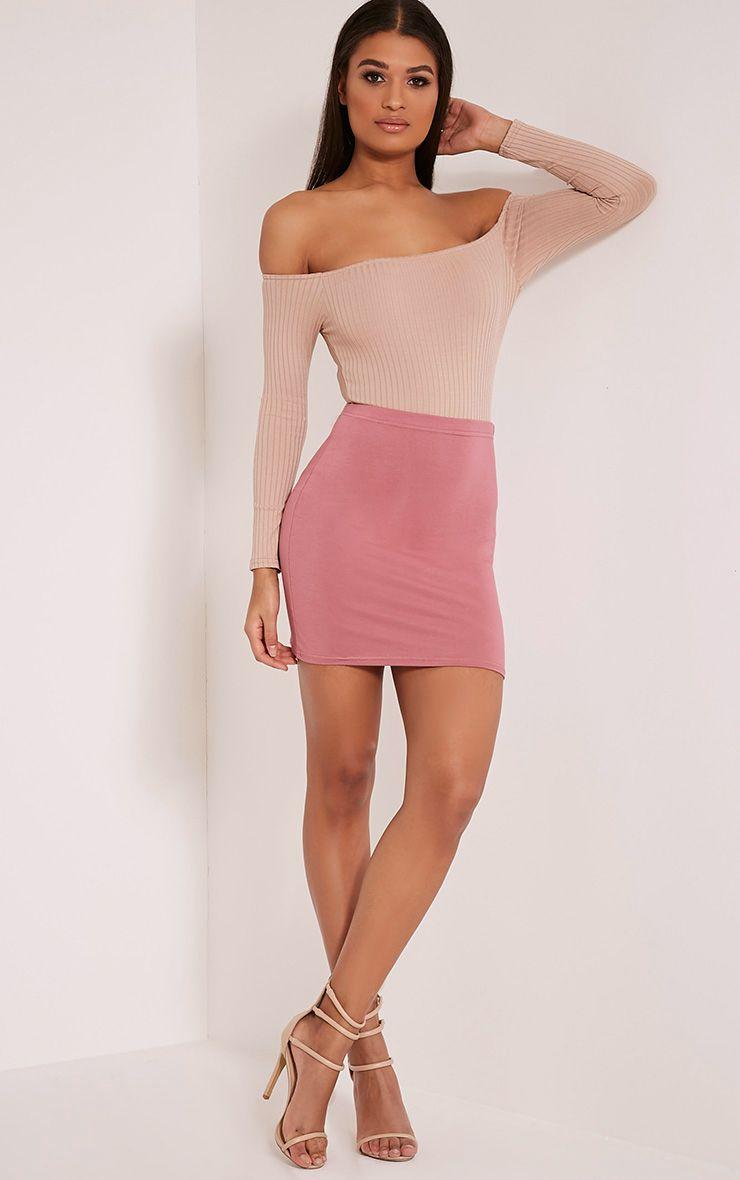 Basic Rose Jersey Mini Skirt 1