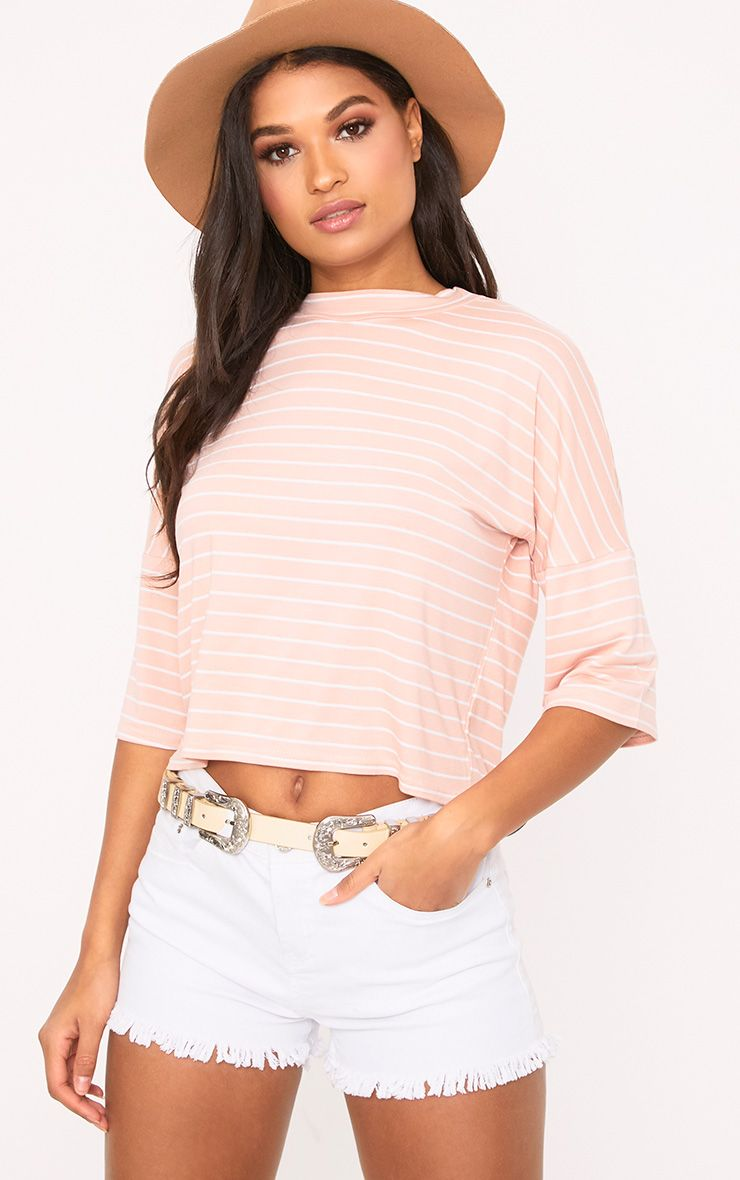 Pink Stripe Oversized T Shirt