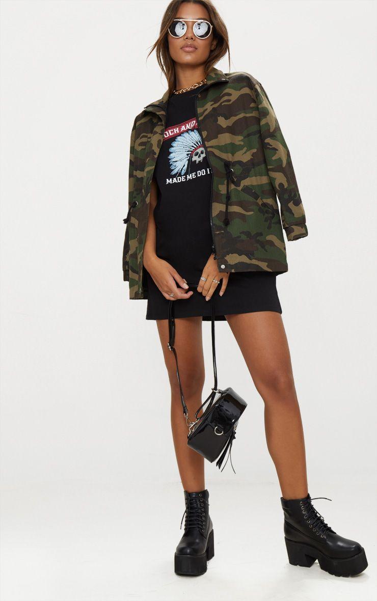 Black Rock And Roll T Shirt Dress Dresses
