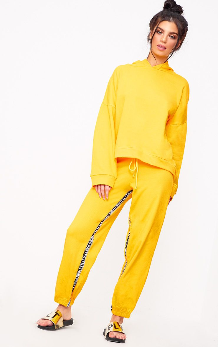 Yellow Prettylittlething Branded Joggers