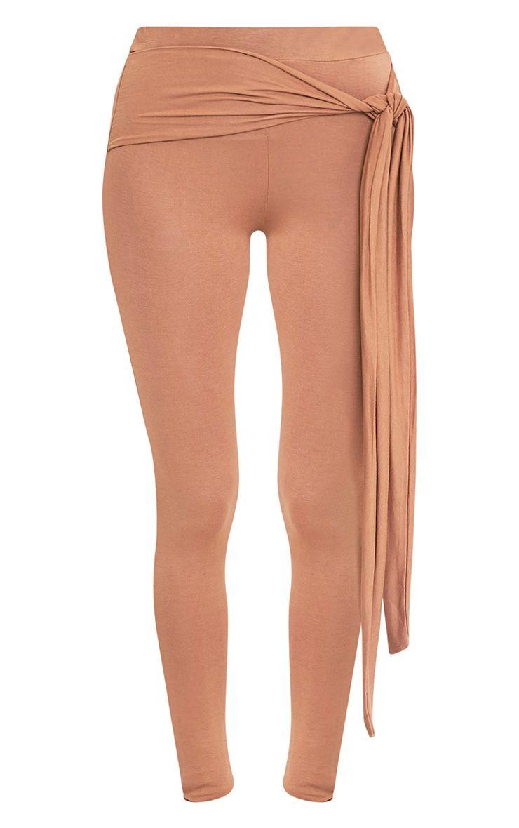 Basic Camel Tie Front Leggings 3