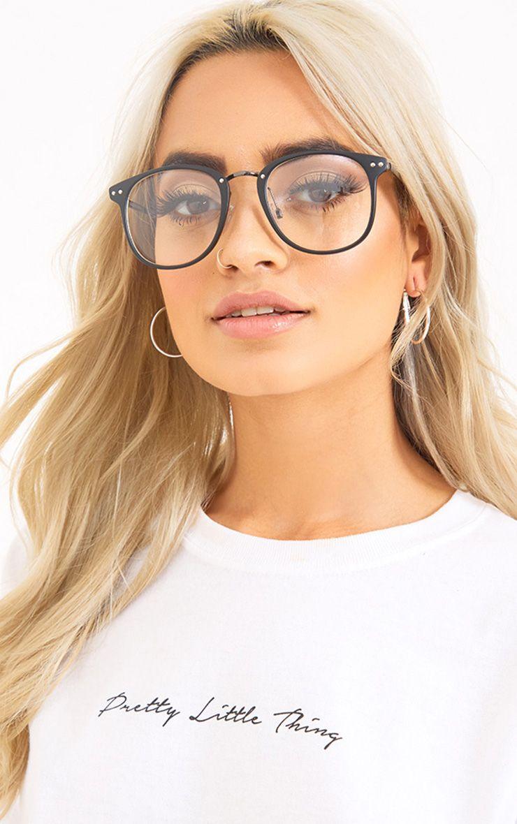 Oana Black Frame Clear Lens Glasses